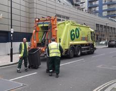 Bin men in London