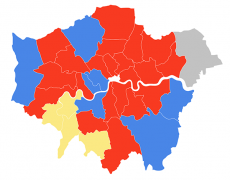 London boroughs political map